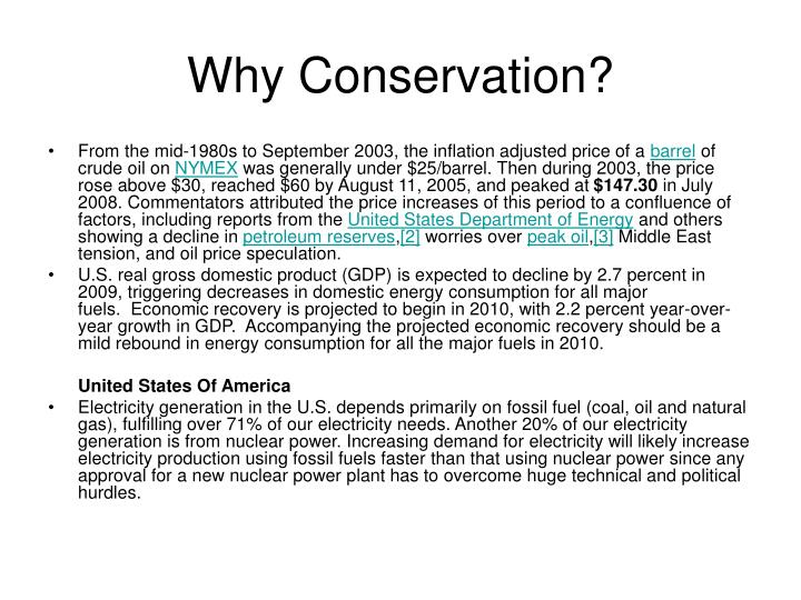Why Conservation?