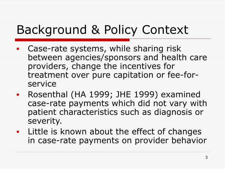 Background & Policy Context