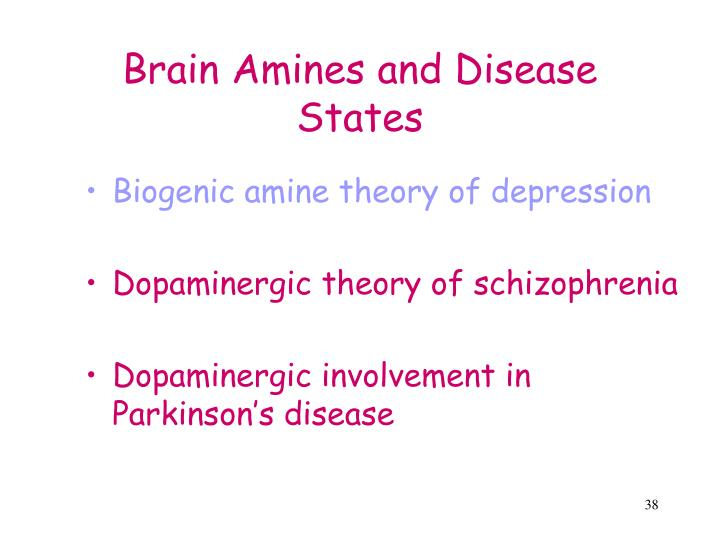 Brain Amines and Disease States