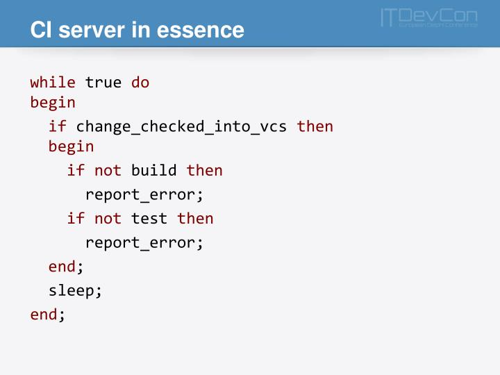 CI server in essence