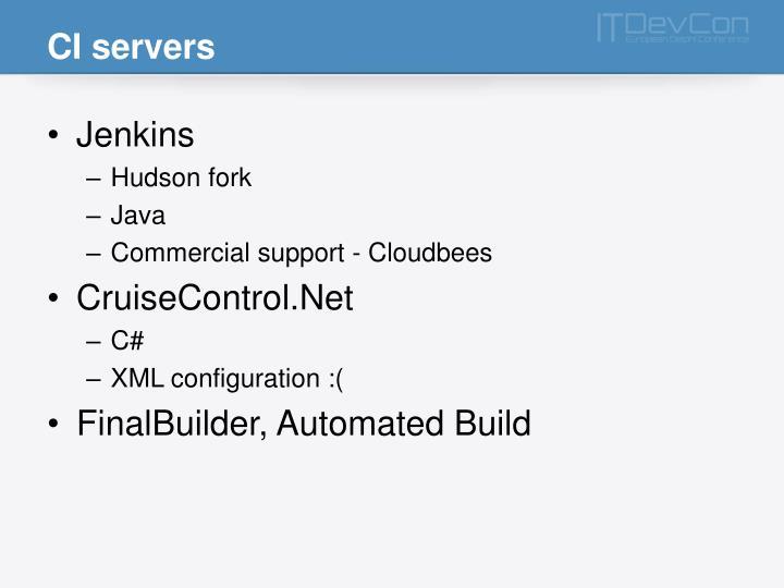 CI servers
