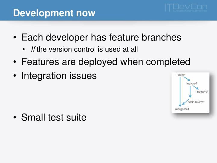 Development now