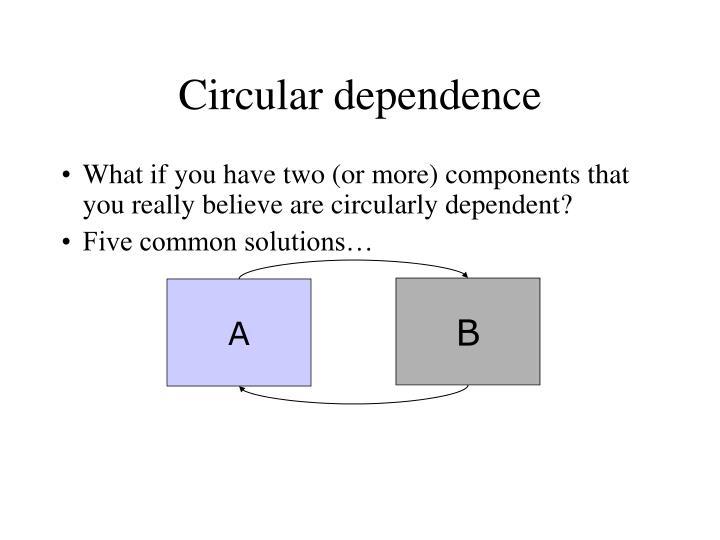 Circular dependence