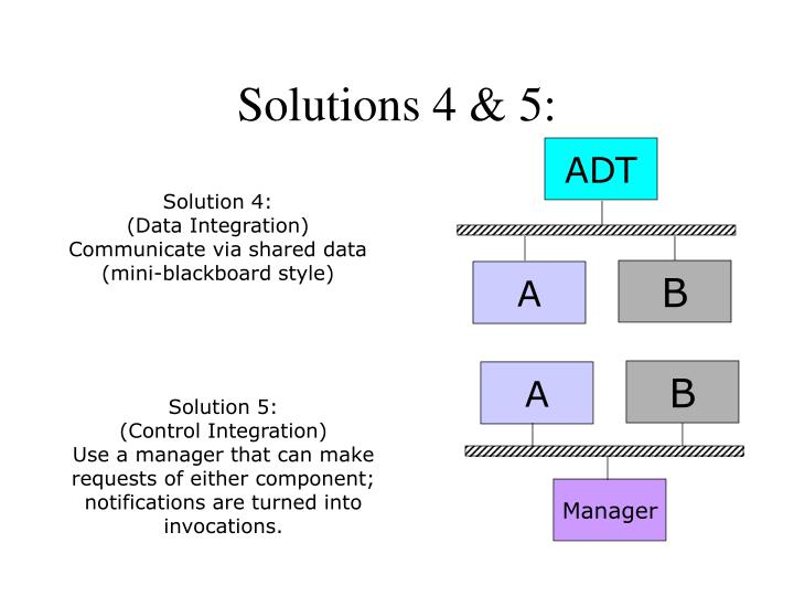 Solutions 4 & 5: