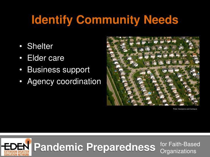 Identify Community Needs