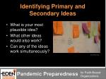 identifying primary and secondary ideas