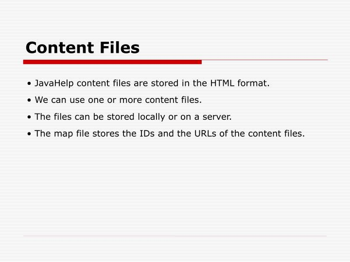 Content Files