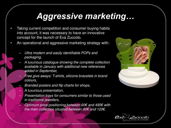 Aggressive marketing…