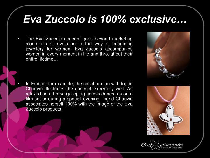 Eva Zuccolo is 100% exclusive…