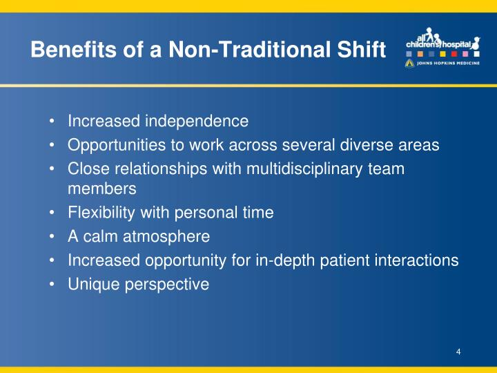 Benefits of a Non-Traditional Shift