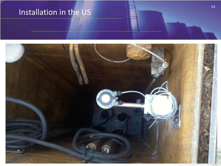 Installation in the US