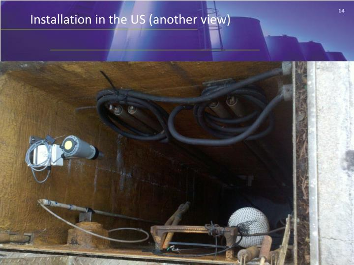 Installation in the US (another view)