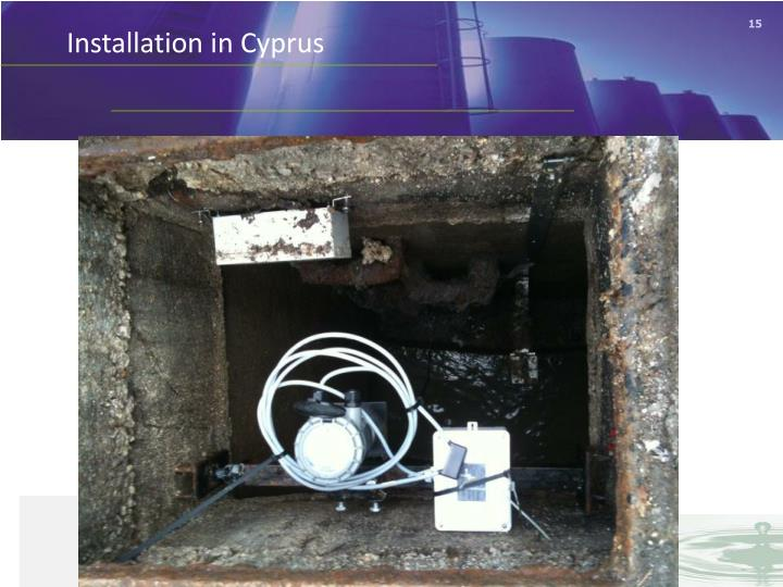 Installation in Cyprus