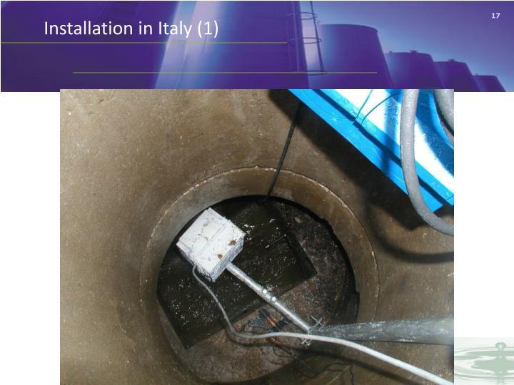 Installation in Italy (1)