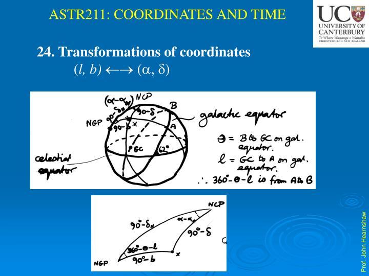 24. Transformations of coordinates