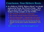 conclusion your hebrew roots