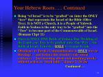 your hebrew roots continued2