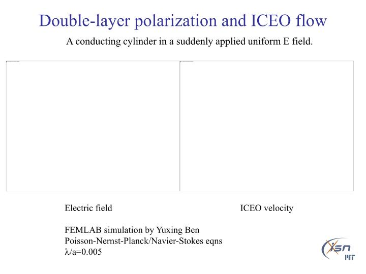 Double-layer polarization and ICEO flow