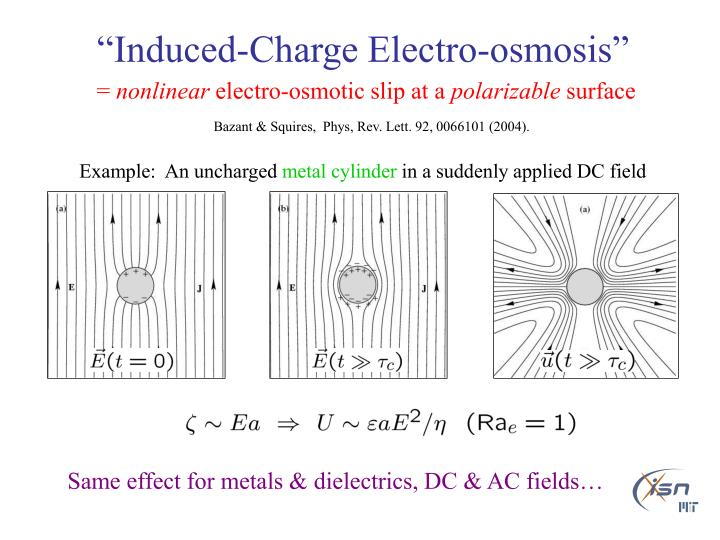 """Induced-Charge Electro-osmosis"""