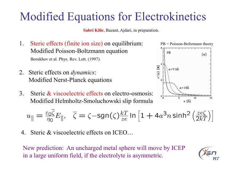 Modified Equations for Electrokinetics