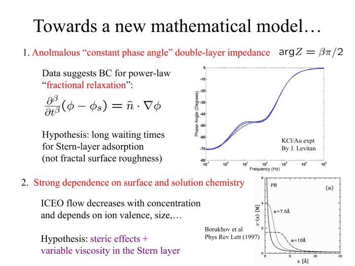 Towards a new mathematical model…