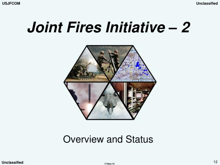 Joint Fires Initiative – 2