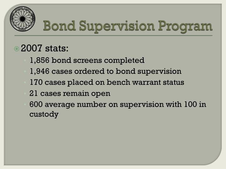 Bond Supervision Program