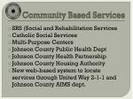 community based services1