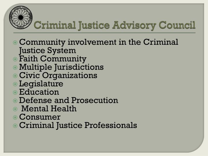 Criminal Justice Advisory Council