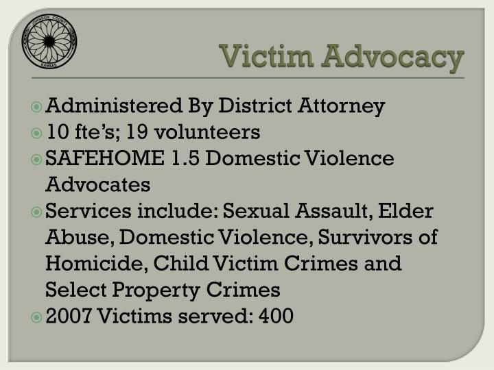 Victim Advocacy