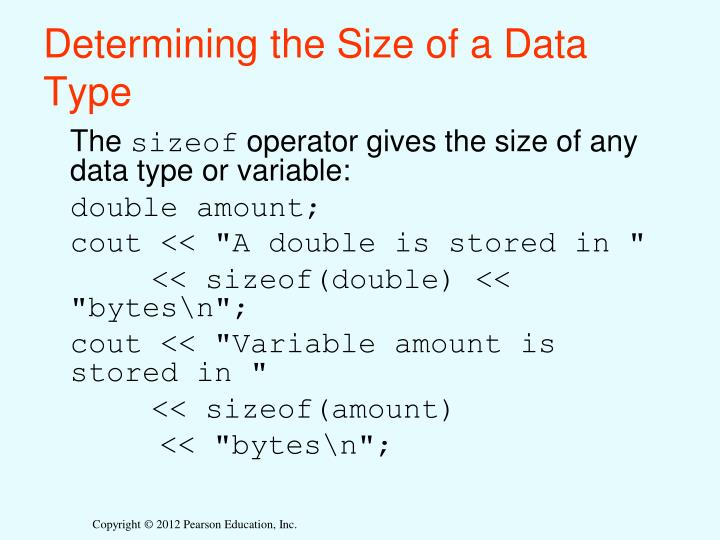 Determining the Size of a Data Type