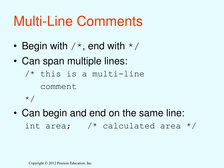 Multi-Line Comments