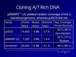 cloning a t rich dna3