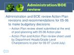 administration boe review