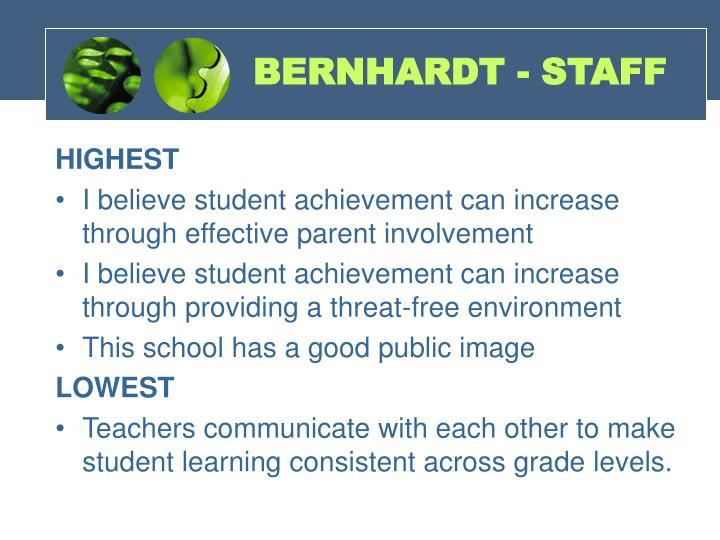 BERNHARDT - STAFF