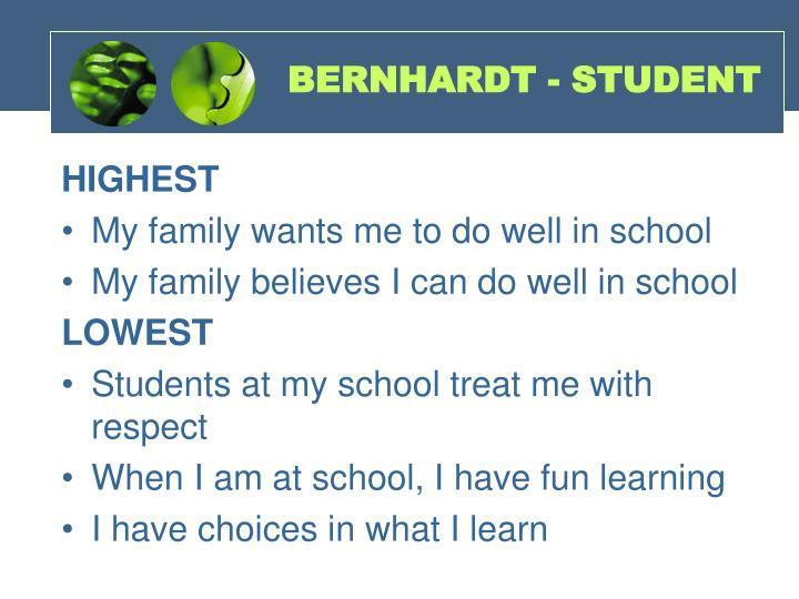BERNHARDT - STUDENT