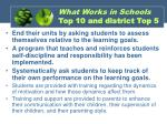what works in schools top 10 and district top 5