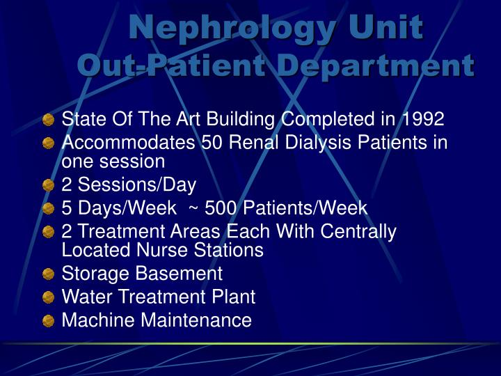 Nephrology Unit