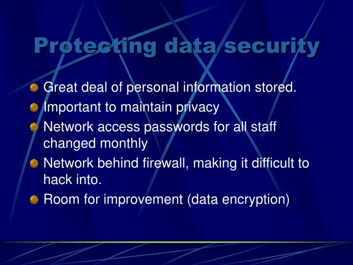 Protecting data security