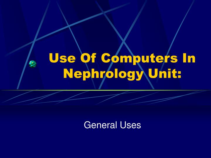 Use Of Computers In