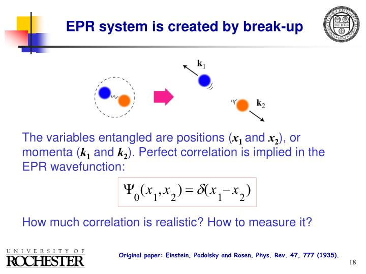 EPR system is created by break-up