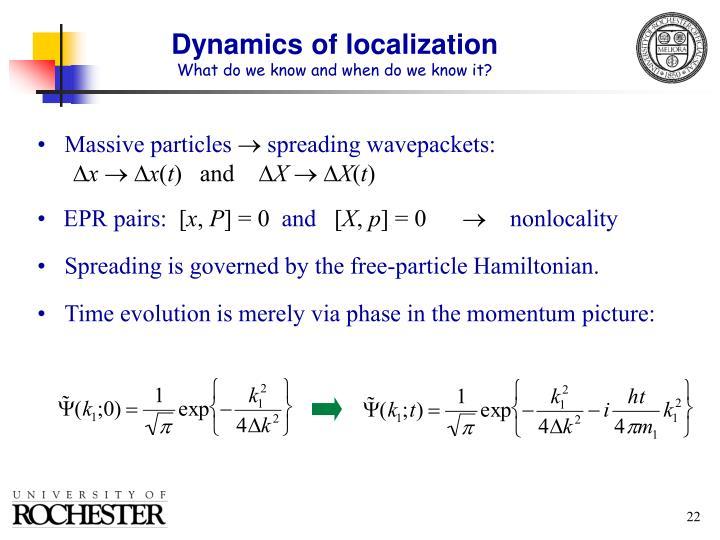 Dynamics of localization