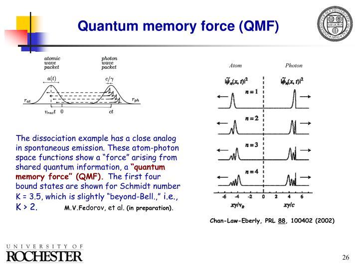 Quantum memory force (QMF)
