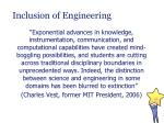 inclusion of engineering