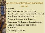 an effective internal communication should
