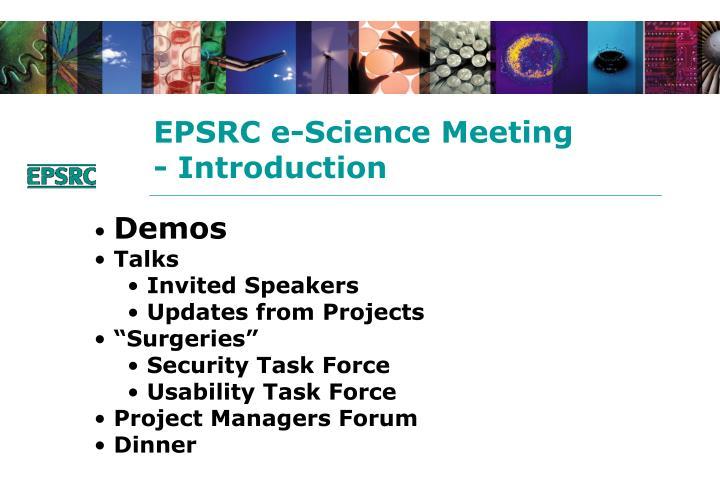 EPSRC e-Science Meeting