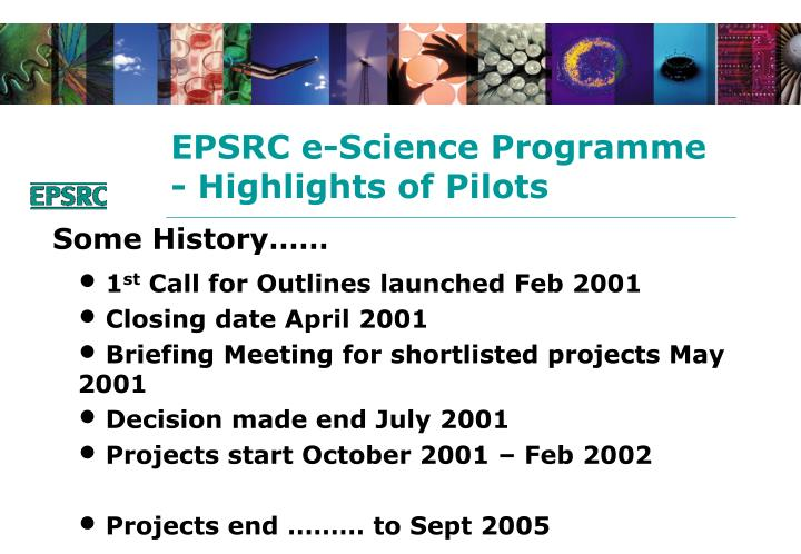 EPSRC e-Science Programme