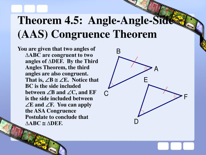 You are given that two angles of
