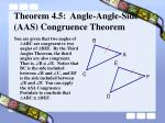 theorem 4 5 angle angle side aas congruence theorem2