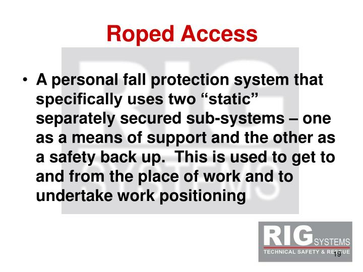 Roped Access